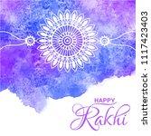 raksha bandhan vector greeting... | Shutterstock .eps vector #1117423403