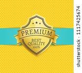 golden quality premium best... | Shutterstock .eps vector #1117425674
