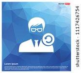 reload user icon   free vector...   Shutterstock .eps vector #1117426754