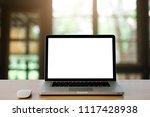 conceptual workspace empty...   Shutterstock . vector #1117428938