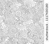 tracery doodle seamless pattern.... | Shutterstock .eps vector #1117430180