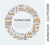 furniture sale banner... | Shutterstock .eps vector #1117431830