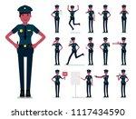 policewoman character vector... | Shutterstock .eps vector #1117434590
