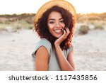 portrait of gorgeous african... | Shutterstock . vector #1117435856