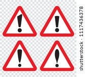danger sign  warning sign ... | Shutterstock .eps vector #1117436378