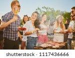 group of people standing around ...   Shutterstock . vector #1117436666
