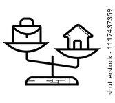 work   life balance | Shutterstock .eps vector #1117437359