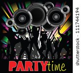 party time illustration with... | Shutterstock .eps vector #111744194