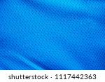 blue fabric sport clothing... | Shutterstock . vector #1117442363