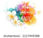 watercolor imitation... | Shutterstock .eps vector #1117445288