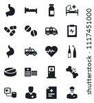 set of vector isolated black... | Shutterstock .eps vector #1117451000