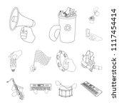 manipulation by hands outline... | Shutterstock .eps vector #1117454414