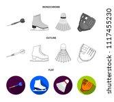 darts darts  white skate skates ... | Shutterstock .eps vector #1117455230