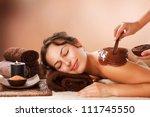 spa chocolate mask. luxury spa... | Shutterstock . vector #111745550