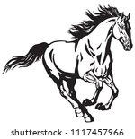 running stallion horse.... | Shutterstock .eps vector #1117457966