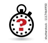 stopwatch question mark | Shutterstock .eps vector #1117464950