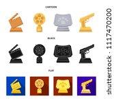 gold pistol  silver prize for...   Shutterstock .eps vector #1117470200