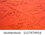 an old red wooden shield in the ... | Shutterstock . vector #1117474916