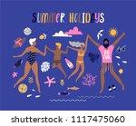 summer pop art illustration...   Shutterstock .eps vector #1117475060