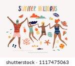 summer pop art illustration... | Shutterstock .eps vector #1117475063
