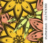 seamless floral background.... | Shutterstock .eps vector #1117476500
