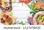 a set of food. tartar  cheese ... | Shutterstock . vector #1117478420