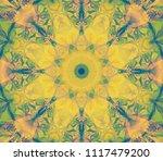abstract kaleidoscope lime...   Shutterstock . vector #1117479200
