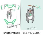 vector clothes for newborn... | Shutterstock .eps vector #1117479686