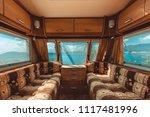 caravan trailer with sea view ... | Shutterstock . vector #1117481996
