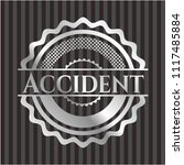 accident silver shiny emblem | Shutterstock .eps vector #1117485884