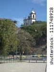Historic Church in Rio de Janeiro - stock photo