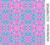 seamless embroidered pattern.... | Shutterstock .eps vector #1117489928