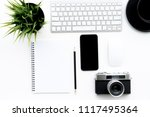 flat lay of top view modern...   Shutterstock . vector #1117495364