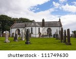 Stock photo ruhwell parish church houses the ruthwell cross an anglo saxon runic cross was carved in 111749630