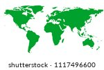 green world map isolated on... | Shutterstock .eps vector #1117496600