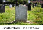 Blank gravestone with other...