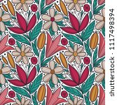 decorative floral seamless... | Shutterstock .eps vector #1117498394