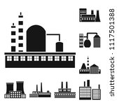factory and facilities black...   Shutterstock .eps vector #1117501388