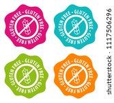 gluten free badges. eps10... | Shutterstock .eps vector #1117506296