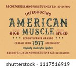 original handmade alphabet.... | Shutterstock .eps vector #1117516919