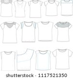 technical sketch for fashion... | Shutterstock .eps vector #1117521350