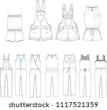 technical sketch for fashion...   Shutterstock .eps vector #1117521359