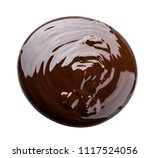 melted chocolate. isolated on... | Shutterstock . vector #1117524056
