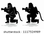 Silhouette Of A Fireman With A...