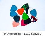 multicolour guitar picks | Shutterstock . vector #1117528280