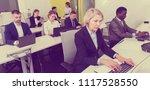 senior businesswoman...   Shutterstock . vector #1117528550