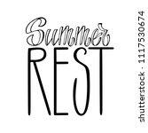 summer rest. isolated vector ... | Shutterstock .eps vector #1117530674