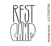 rest camp. isolated vector ... | Shutterstock .eps vector #1117530704