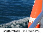 life saver ring at a ship in... | Shutterstock . vector #1117534598