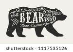 the bear   vintage poster... | Shutterstock .eps vector #1117535126
